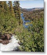 Waterfall Outside Lake Mcleod California Metal Print
