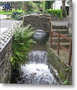 Waterfall Outside The Fish Place In Ballykissangel Metal Print