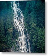 Waterfall Princess Louisa Inlet Metal Print