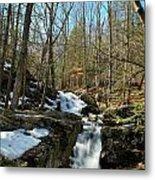 Waterfall Rush Metal Print