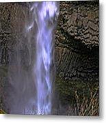 Waterfall Spray Metal Print