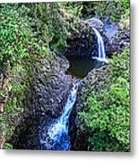 Waterfalls And Pools Maui Hawaii Metal Print