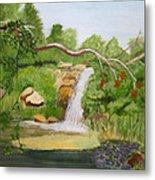 Waterfalls At Red Butte Garden Metal Print