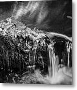 Waterfalls Childs National Park Painted Bw   Metal Print