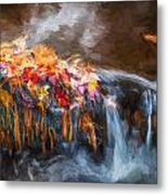 Waterfalls Childs National Park Painted  Metal Print