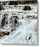 Waterfalls Flowing Metal Print