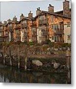 Waterfront Apartments Metal Print by Gordon  Grimwade