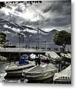 Waterfront At Ascona Metal Print