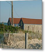 Waterfront Beach Cottages Metal Print