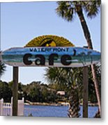Waterfront Cafe Metal Print