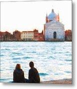 Waterfront Church Venice Metal Print