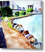 Waterfront In Dumbo Metal Print