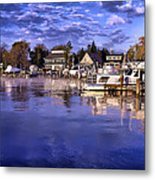 Waterfront Morning Metal Print