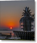 Waterfront Park Sunrise Metal Print