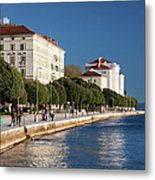 Waterfront Promenade In Zadar Metal Print