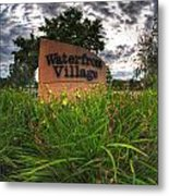 Waterfront Village Metal Print