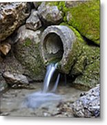 Waterfull Metal Print