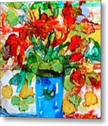 Waterglass Bouquet Metal Print