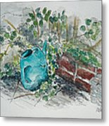 Watering Can Metal Print by Helen J Pearson