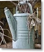 Watering Can Pot Metal Print