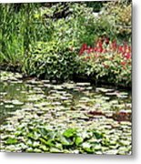 Waterlily Pond Giverney Metal Print
