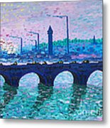 Waterloo Bridge Homage To Monet Metal Print