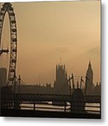 Waterloo Bridge View Metal Print
