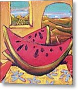 Watermelon For Two Metal Print