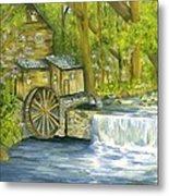 Watermill In The Woods Metal Print