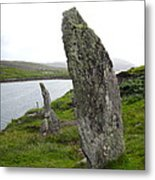 Waters Edge Stones At Bernera Metal Print