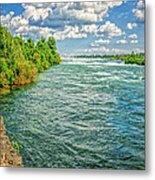Waters Feeding Niagara Falls Metal Print
