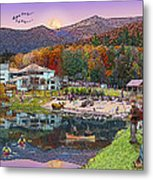 Waterville Estates In Autumn Metal Print by Nancy Griswold