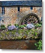 Waterwheel In Brittany Metal Print