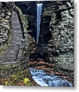 Watkins Glen Central Cascade Metal Print