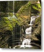 Watkins Glen Falls Metal Print by Anthony Sacco