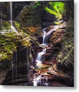 Watkins Glen Rainbow Falls Metal Print by Mark Papke