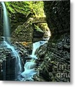 Watkins Glen Waterfalls Metal Print