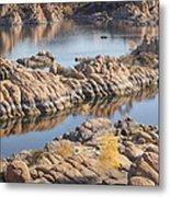 Watson Lake Metal Print by Ray Short