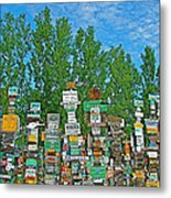 Watson Lake Sign Forest-yt Metal Print by Ruth Hager