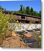 Watson Mill Covered Bridge From The Jetty Metal Print