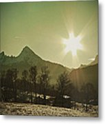 Watzmann At New Year Metal Print