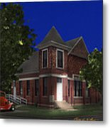 Waurika Presbyterian Church Metal Print