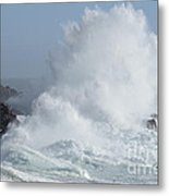 Wave At Salt Point Metal Print