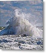 Wave Blow Metal Print
