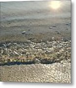 Wave On The Beach Metal Print