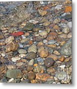 Wave Over Beautiful Rocks Metal Print