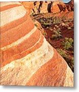 Wave Rocks Metal Print by Jane Rix