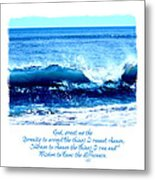 Wave Serenity Prayer Metal Print