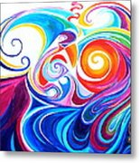 Wave Set Metal Print