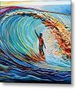 Wave Surfer Metal Print